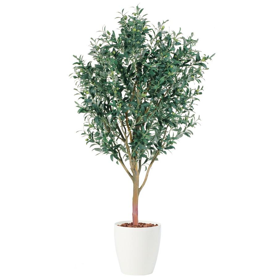 スーパーSALEセール対象 人工観葉植物 ライプオリーブ 150 (器:RP-300) 91394|フェイクグリーン イミテーション インテリア オフィス 店舗 造花 おしゃれ 観葉植物 大型 観葉植物 おしゃれ 観葉植物 インテリア 《2018ds》