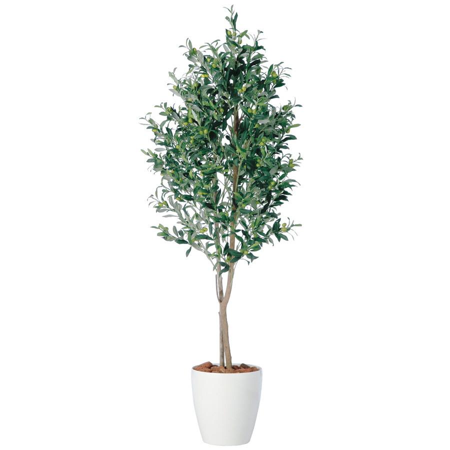 スーパーSALE10%OFF対象 人工観葉植物 ライプオリーブ デュアル 150 (器:RP-265) 98665|フェイクグリーン イミテーション インテリア オフィス 店舗 造花 おしゃれ 観葉植物 大型 観葉植物 おしゃれ 観葉植物 インテリア 《2018ds》