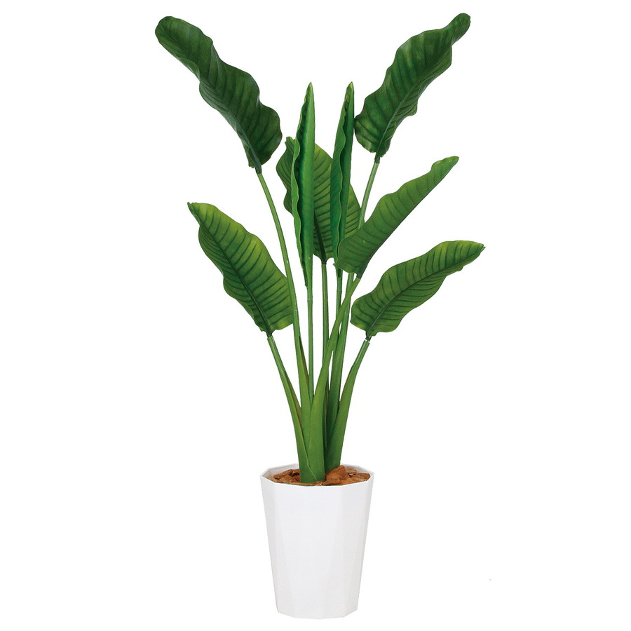 スーパーSALEセール対象 人工観葉植物 ストレリチア・オーガスタ MIX 130 (器:クォーツ240) 99176|フェイクグリーン イミテーション インテリア オフィス 店舗 造花 観葉植物 大型 観葉植物 おしゃれ 観葉植物 インテリア 《2018ds》