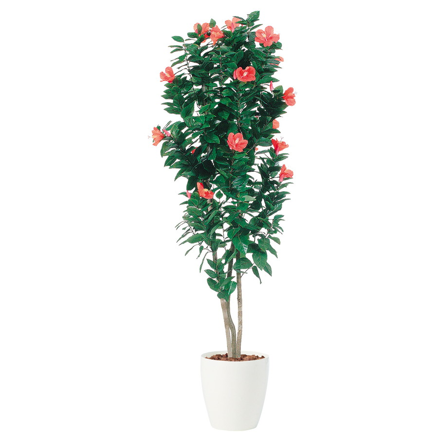 スーパーSALE10%OFF対象 人工観葉植物 ハイビスカス トリプル 150 (器:RP-265) 91446 |フェイクグリーン イミテーション インテリア オフィス 店舗 造花 観葉植物 大型 観葉植物 おしゃれ 観葉植物 インテリア 《2018ds》