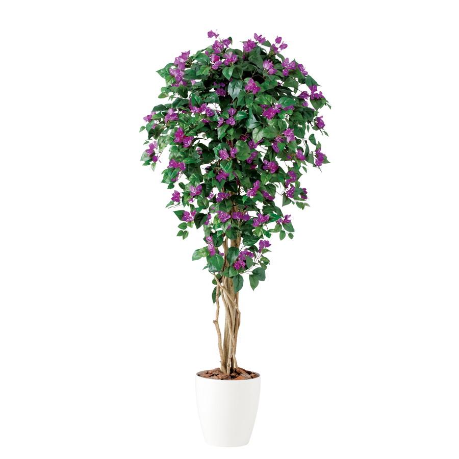 スーパーSALE10%OFF対象 人工観葉植物 ブーゲンビレア リアナ 150 (器:RP-300) 91636 |フェイクグリーン イミテーション インテリア オフィス 店舗 造花 観葉植物 大型 観葉植物 おしゃれ 観葉植物 インテリア 《2018ds》