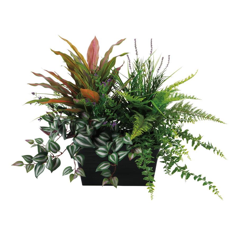スーパーSALE10%OFF対象 人工観葉植物 MIX プランター Type A (器:SA-P(BK)) 91654 |フェイクグリーン イミテーション インテリア オフィス 店舗 造花 カジュアル 観葉植物 大型 観葉植物 おしゃれ 観葉植物 インテリア 《2018ds》