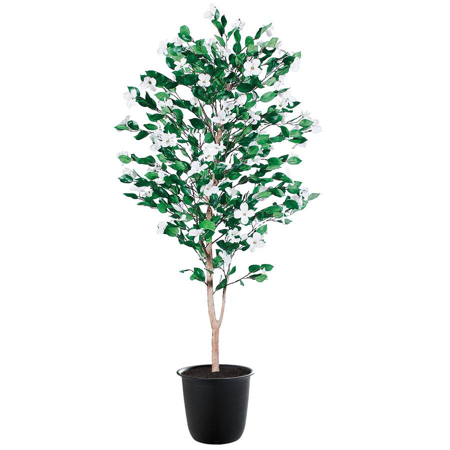 スーパーSALEセール対象 人工観葉植物 ハナミズキ 150 (器:ツリー7(BK)) 91782|フェイクグリーン イミテーション インテリア 和風 造花 お手入れ不要 観葉植物 大型 観葉植物 おしゃれ 観葉植物 インテリア 《2018ds》