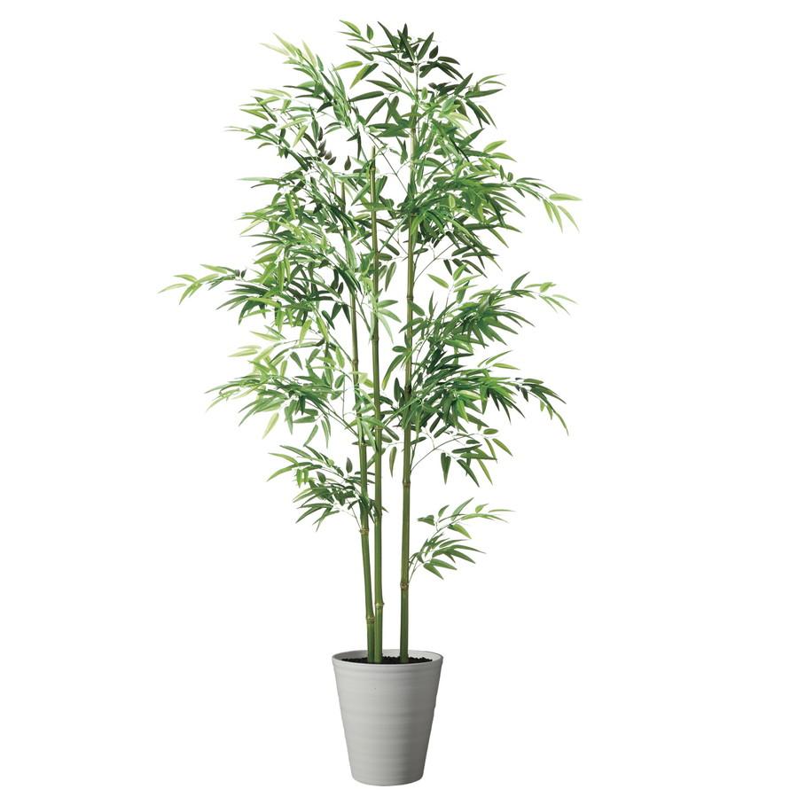 スーパーSALEセール対象 人工観葉植物 青竹3本立 180 (器:SA-10(WH)) 91786|フェイクグリーン イミテーション インテリア 和風 造花 天然 竹 お手入れ不要 観葉植物 大型 観葉植物 おしゃれ 観葉植物 インテリア 《2018ds》
