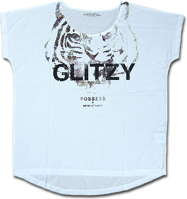 预感成员衬衫 T 恤打印 T 套衫短袖衬衫老虎老虎动物
