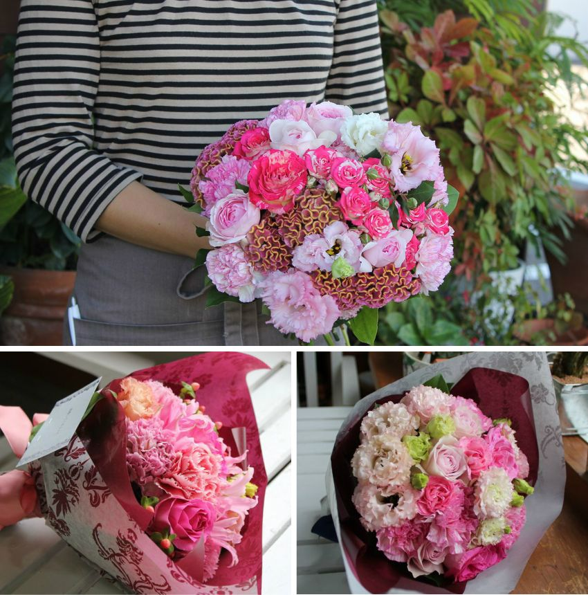 Bouquet Pink 05P02Mar14 of European Style which a seasonal flower brings on