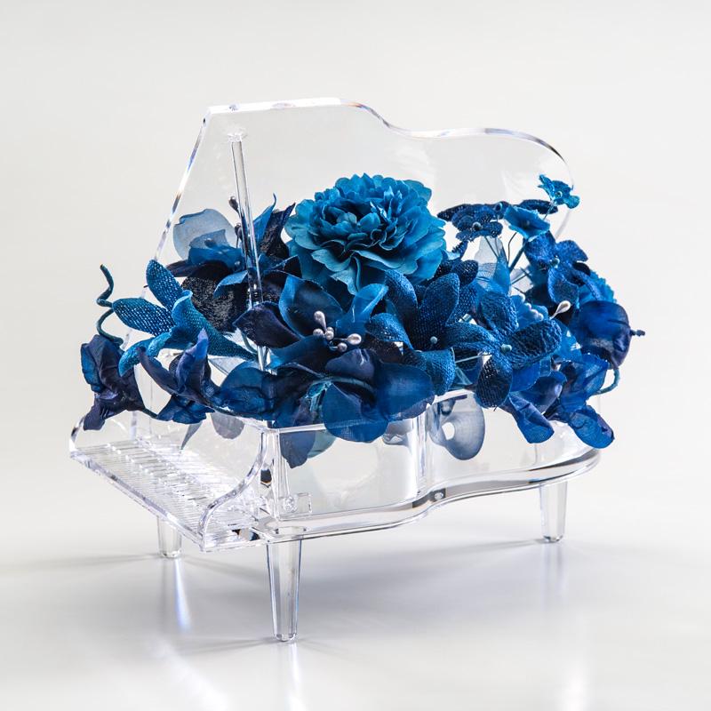 ギフト プレゼント 花 藍染花ピアノ