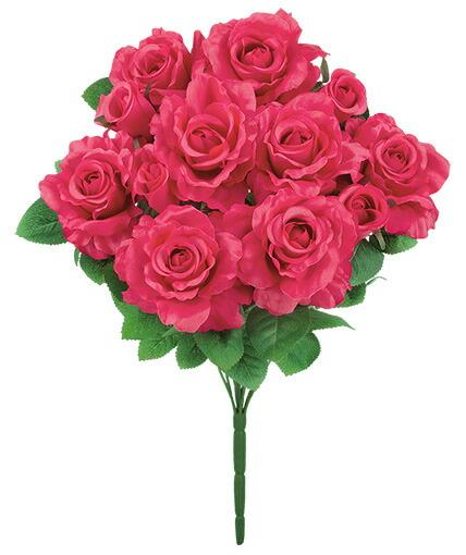 造花 アーティフィシャルフラワー バッキンガムローズブッシュ お得 x 12 メイルオーダー doga ビューティー d-0020287-flb-8077_bea x ドガ 12