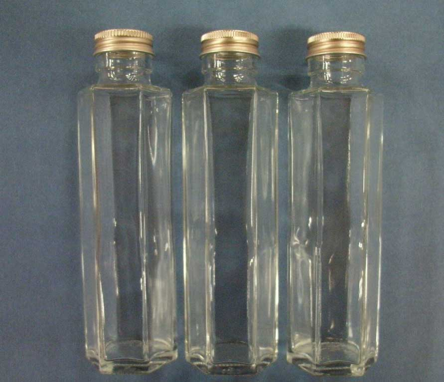 Six angles of narrow opening carafes pillar type (with a leek stopper) approximately 150 ml in capacity three set ssf-150 for her barium