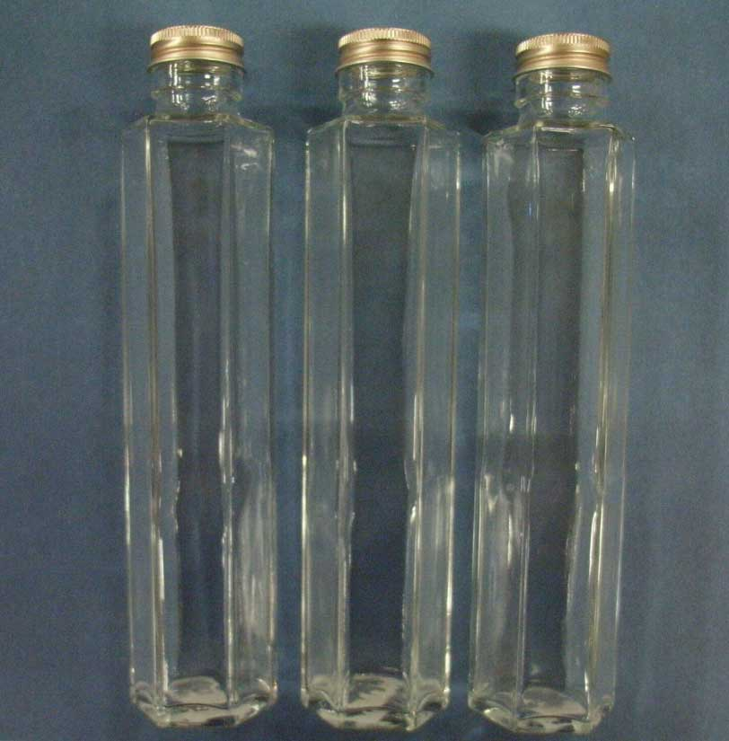 Six angles of narrow opening carafes pillar type (with a leek stopper) approximately 200 ml in capacity three set ssf-200 for her barium