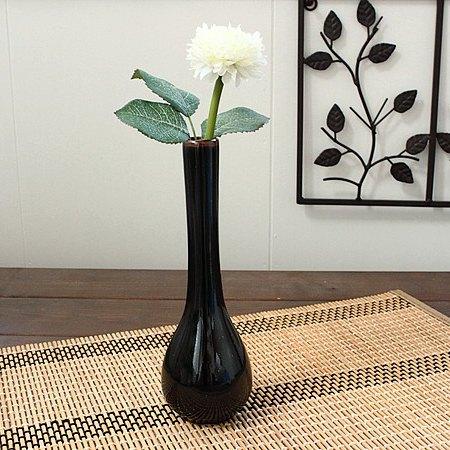 黒天目 鶴首一輪立て 花瓶 一輪立て 一輪挿し フラワーベース 花器 インテリア 雑貨 アウトレット 25%OFF マーケット 日本製 多治見美濃焼
