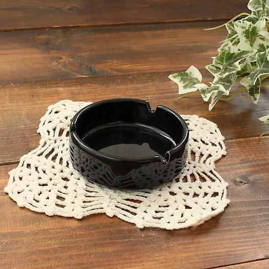 ブラック灰皿 カトラリー 灰皿 日用品 生活雑貨 25%OFF アウトレット 多治見美濃焼 雑貨 業務用 高級 日本製
