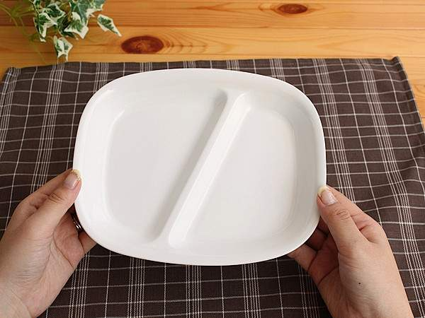 『強化磁器』仕切りランチプレート【洋食器/仕切り皿/ランチプレート/白い食器/アウトレット/多治見美濃焼/日本製】
