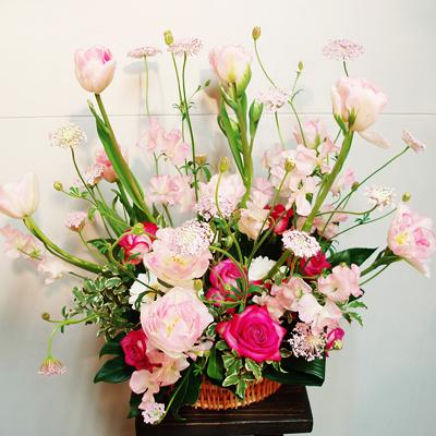【定期装花/Lコース】季節の花材の定期便/*ご自宅までお花をお届け致します*【定期配送】