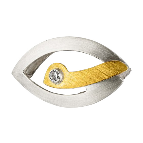 リヒトウェーゼン 黄金と銀のペンダント ジルコン ホルスの目[リヒトウェーゼン/LichtWesen/ドイツ/正規輸入品/ジルコン/ペンダント]
