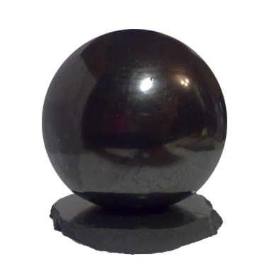 シュンガイトのボール型オブジェ 15cm[シュンガイト/浄化/フラーレン/パワーストーン/天然石/シュンガイト/シュンガ石/パワーストーン]