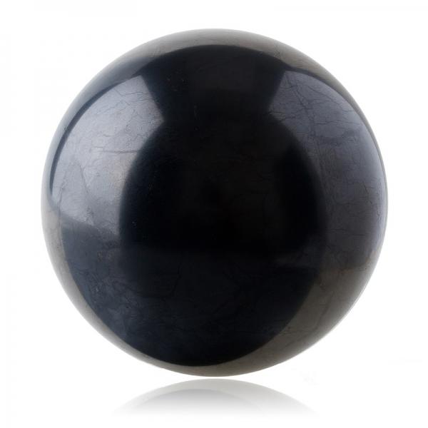 シュンガイトのボール型オブジェ 20cm[シュンガイト/浄化/フラーレン/パワーストーン/天然石/シュンガイト/シュンガ石/パワーストーン]