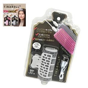 ティナロール+ Tina Roll 充電式ヘアカーラー グレー/ふんわりカール 美容 健康 ヘアメイク 髪型 ホットヘアカーラー