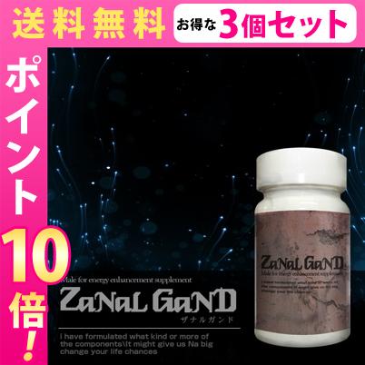 送料無料☆3個セット ZaNaL GanD(ザナルガンド) /サプリメント 男性 健康 メンズサポート