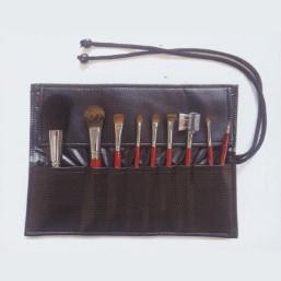 送料無料 熊野化粧筆 9点パーフェクトセット(収納ケース付)/メイクブラシ 美容 健康 化粧道具 メイクセット