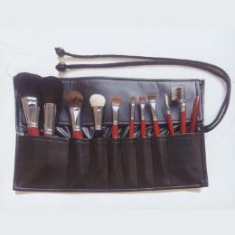 送料無料 熊野化粧筆 11点パーフェクトRICHセット(収納ケース付)/メイクブラシ 美容 健康 化粧道具 メイクセット