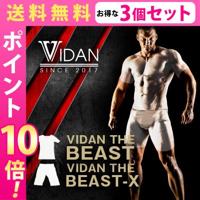 【送料無料★P10倍☆3個セット】VIDAN THE BEAST X(ビダンザビーストエックス)+BEAST(ビースト)