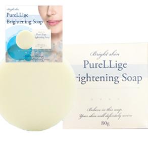 送料無料☆3個セット Purelliage ピュアリージェ ブライトニングソープ/美容石鹸 洗顔 スキンケア フェイスケア 肌 保湿