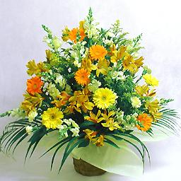 豪華な季節のアレンジ・暖色系