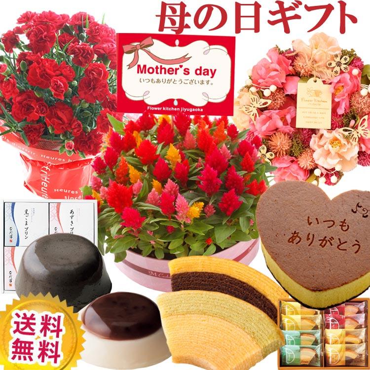 選べる9種類 花鉢&リースとプレミアムスイーツの母の日ギフトセット