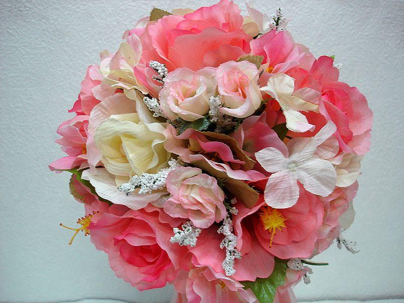 ブートニアも無料でお付けいたします 造花で作るウェディングブーケ タイムセール 永遠に思い出を残しませんか ウェディングブーケ ピンク156 結婚式 ウェディング ブートニア 至上 トスブーケ ブライダル ブーケ 二次会