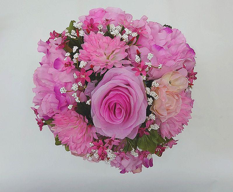 ブートニアも無料でお付けいたします 造花で作るウェディングブーケ 永遠に思い出を残しませんか ウェディングブーケ 品質保証 ピンク219 結婚式 トスブーケ ブートニア ブーケ ブライダル 二次会 ウェディング 期間限定特価品
