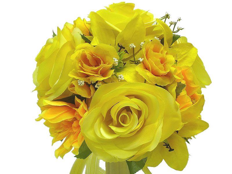 ブートニアも無料でお付けいたします 造花で作るウェディングブーケ 永遠に思い出を残しませんか 未使用 ウェディングブーケ イエロー157 国内送料無料 結婚式 ブートニア トスブーケ 二次会 ブーケ ブライダル ウェディング