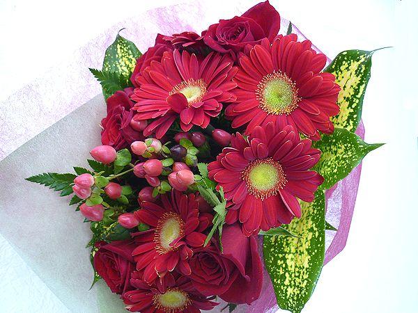 キュートでおしゃれな ラブリーブーケ 愛らしいお花をもらったら 自然と笑顔がこぼれちゃいそう 季節のお花をいーーーっぱい詰め込んで素敵なブーケをお届けいたします レッド 花 フラワーギフト 結婚祝い アレンジメント 希望者のみラッピング無料 誕生日 本物 退職祝い 送迎 記念日 還暦 お祝い NO.1500 歓迎