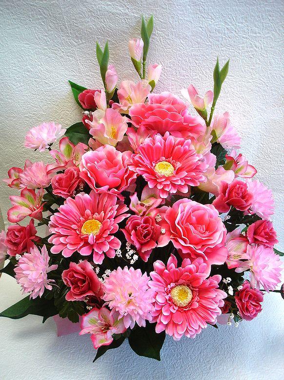 でました 造花でこんなに豪華なアレンジメント お花 器をおまかせしていただいて その分 ボリュームアップ 素敵な造花アレンジメントはいかがでしょう 造花 ボリューム満点 デザイナーおまかせアレンジメントH45 ピンク 楽ギフ_メッセ入力 花 還暦 市販 結婚祝い フラワーギフト 誕生日 母の日 アレンジメント インテリア 送迎 営業 歓迎 退職祝い No.3 お祝い 記念日