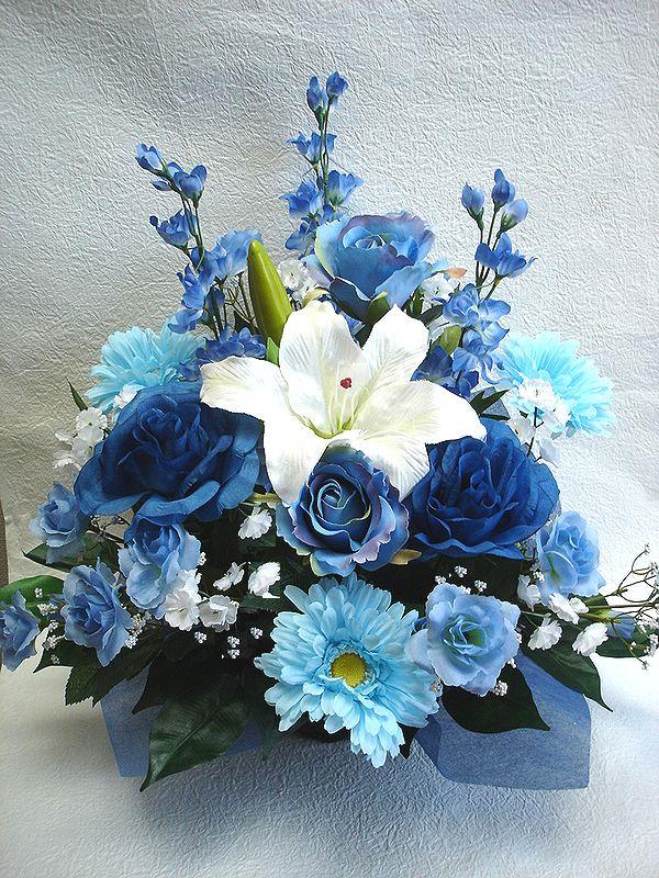 でました 造花でこんなに豪華なアレンジメント お花 器をおまかせしていただいて その分 ボリュームアップ 素敵な造花アレンジメントはいかがでしょう 造花 ボリューム満点 デザイナーおまかせアレンジメントH45 ブルー 楽ギフ_メッセ入力 花 上質 記念日 送迎 結婚祝い No.3 還暦 お祝い フラワーギフト 歓迎 アレンジメント 蔵 誕生日 母の日 退職祝い