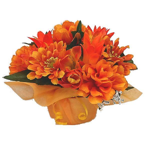 造花アレンジメント お花 器をおまかせしていただいて その分 安心と信頼 ボリュームアップ 素敵な造花アレンジメントはいかがでしょう 在庫処分 造花 ラウンドアレンジ オレンジ 花 母の日 還暦 お祝い 送迎 退職祝い 記念日 誕生日 アレンジメント フラワーギフト 歓迎 結婚祝い