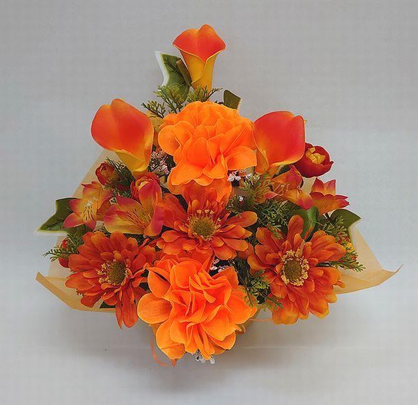 でました 造花でこんなに豪華なアレンジメント お花 公式ストア 器をおまかせしていただいて その分 ボリュームアップ 素敵な造花アレンジメントはいかがでしょう 造花 ボリューム満点 デザイナーおまかせアレンジメントH30 オレンジ 楽ギフ_メッセ入力 花 母の日 お祝い 結婚祝い 還暦 フラワーギフト 記念日 送迎 一部予約 No.2 誕生日 退職祝い インテリア アレンジメント 歓迎