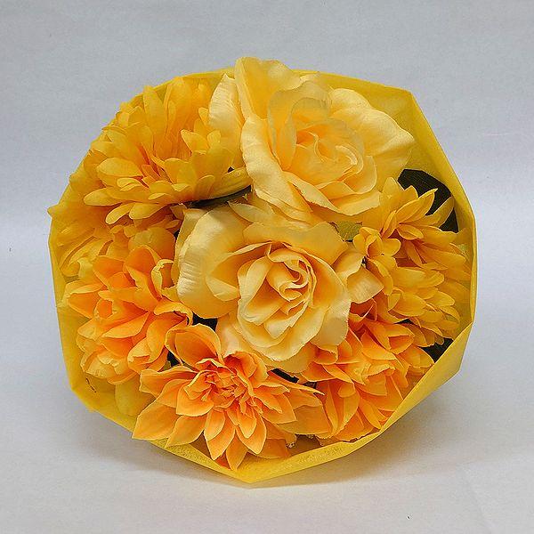 かわいい造花の花束 お祝い 在庫あり お見舞い 誕生日 発表会など様々な用途でご利用いただけます 造花 プリティブーケ イエロー M 花 結婚祝い 送迎 卒園式 卒業式 還暦 おトク 花束 歓迎 記念日 フラワーギフト 退職祝い