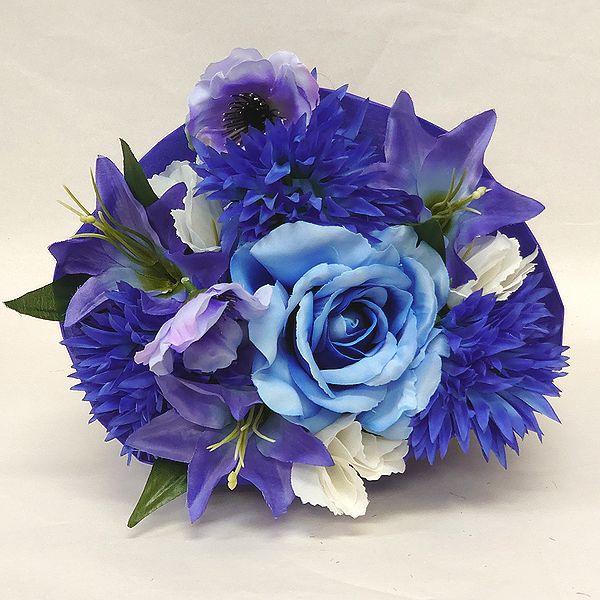 かわいい造花の花束 お祝い お見舞い 誕生日 発表会など様々な用途でご利用いただけます 造花 プリティブーケ ブルー M 花 記念日 結婚祝い 還暦 完売 歓迎 卒業式 店舗 送迎 花束 卒園式 フラワーギフト 退職祝い