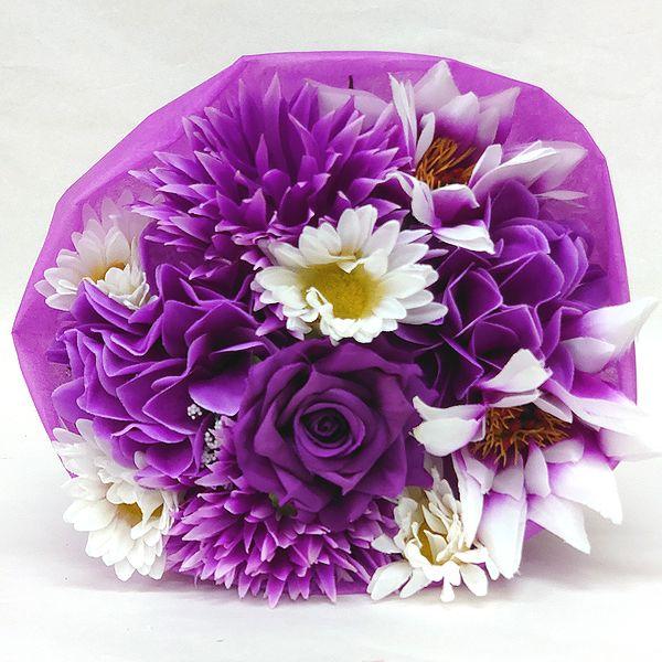 かわいい造花の花束 お祝い お見舞い 誕生日 発表会など様々な用途でご利用いただけます 造花 プリティブーケ パープルM 花 フラワーギフト 正規激安 歓迎 退職祝い 記念日 結婚祝い 還暦 卒業式 卒園式 花束 送迎 NEW ARRIVAL
