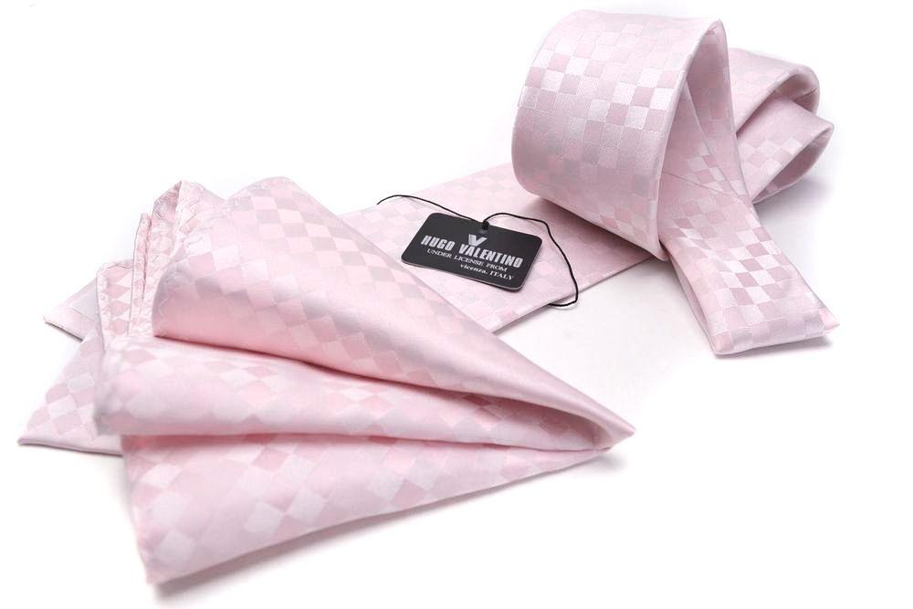父の日 ポケットチーフ ネクタイ BOX付 SET 8 ブロック柄 ピンク cpn hu 16box80OwPknNX