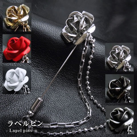Made in Japan w / lapel pins/chain / men's /LAPEL-ROSE-SET rose gifts /  presents / fashion 05P05Sep15