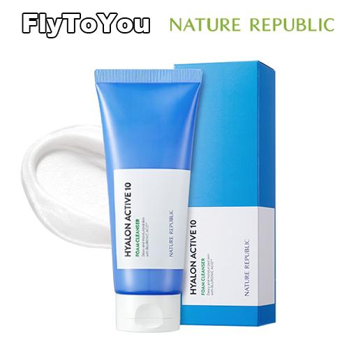 ヒアルロン酸が含有したクリーミーなテクスチャー 密な泡で綺麗な洗顔ができる 水分保湿力 [ギフト/プレゼント/ご褒美] 水分持続力 ブルーロン酸 10重ヒアルロン酸 NATURE フォームクレンザー セール開催中最短即日発送 REPUBLIC 150ml 正規品 韓国コスメ ヒアルロンアクティブ10 ネイチャーリパブリック