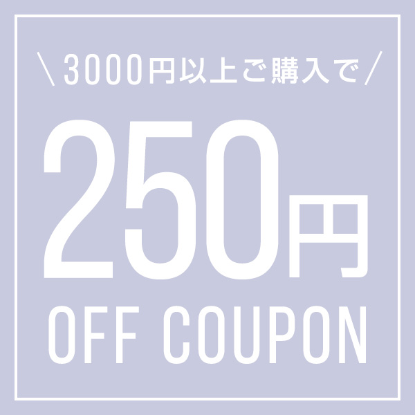 3000円以上購入で250円OFFクーポン配布