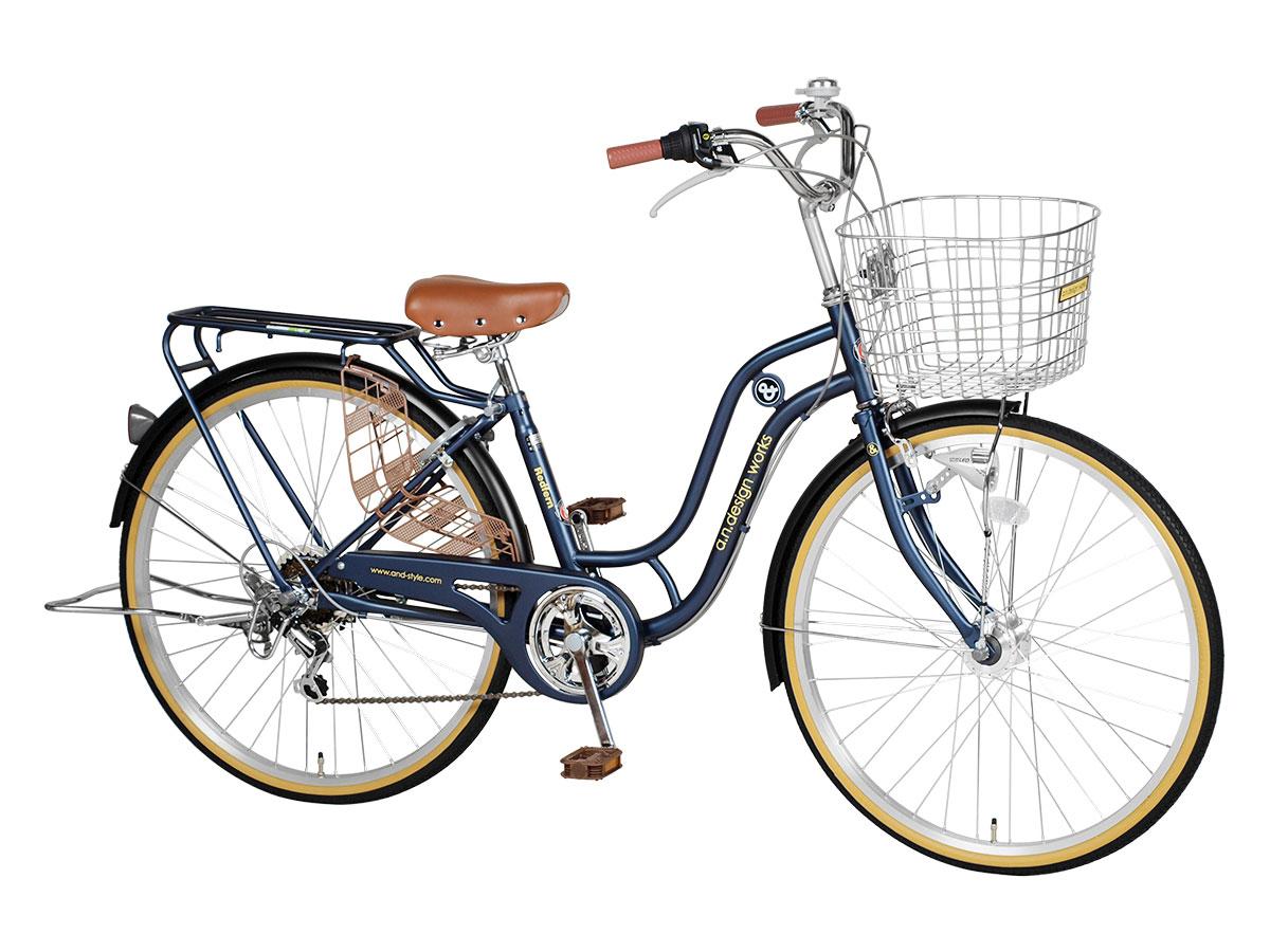 自転車26インチシティサイクルSD266RHDSHIMANO6段変速LEDオートライト通学通勤バスケットリアキャリアおしゃれa.n.designworks最安値に挑戦訳ありアウトレット【完成品組立済】