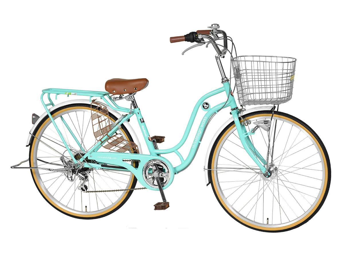 【訳あり】アウトレット完成品組立済自転車26インチ変速オートライトLEDシティサイクルシマノ通学通勤バスケットリアキャリアおしゃれa.n.designworksSD266RHD
