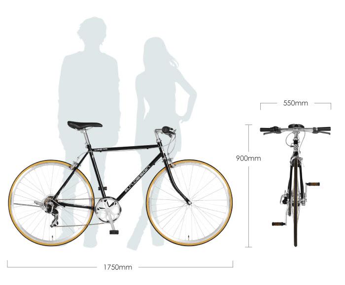 a.n.design works  CL537  自転車 クロスバイク 700c 27インチ 相当 シマノ 7段変速 サイクリング 通勤通学 cross bike  530mm ホリゾンタル クラシック スポーツバイク【カンタン組立】【ライト&ワイヤーロックプレゼント】