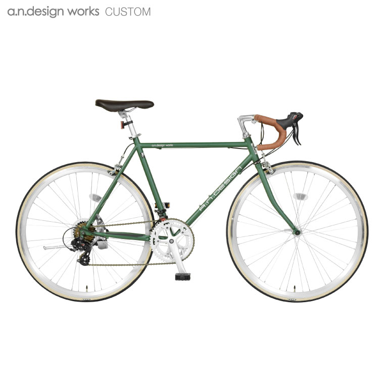 """【訳あり】アウトレット a.n.design works DRC """"Earth Tone"""" ロードバイク 14段変速 アースカラー【代引不可】【カスタムバイク】【カンタン組立】"""