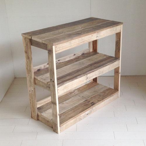 リサイクルウッド 幅82cmキャビネットアンティーク風シェルフ 木製シェルフ 収納棚 木製 本棚 収納 家具 書棚 ラック 多目的ラック ディスプレイ キャビネット 天然木 無垢