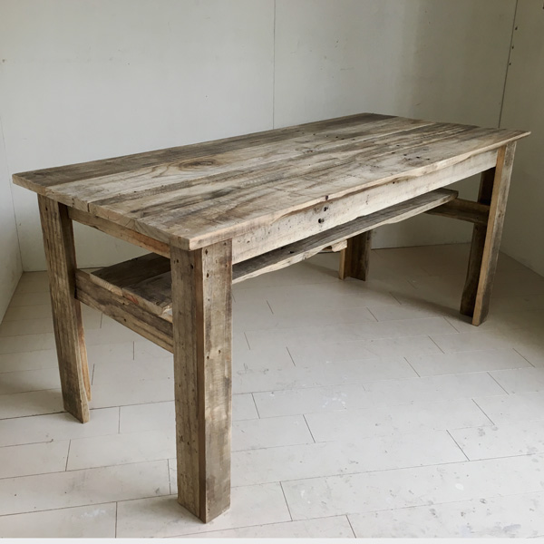 リサイクルウッド リビングダイニング兼用テーブル 机 テーブル ダイニングテーブル リビングテーブル 木製 センターテーブル 座卓 ちゃぶ台 アンティーク風 天然木 無垢